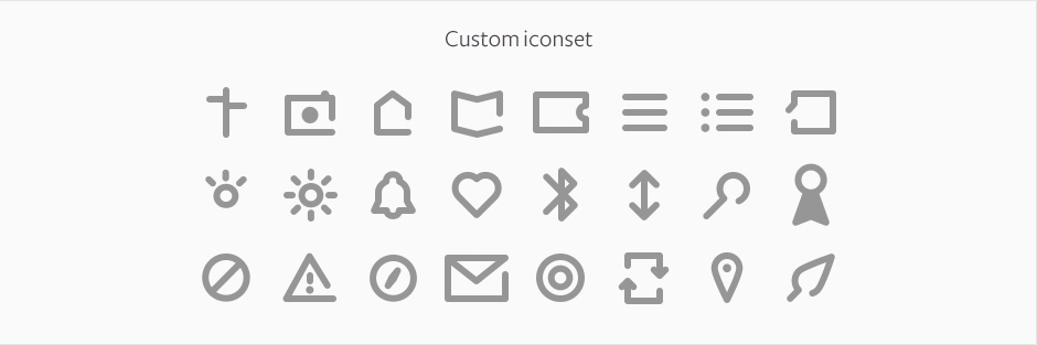 Custom icon set